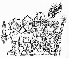 Chibi group shot of the bois by xenoangelz