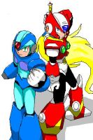 megaman x by Drawloverlala