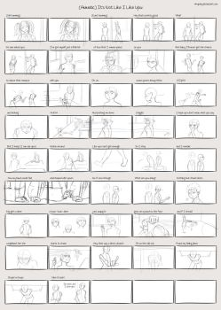It's Not Like I Like You (Sketch Storyboard) by whymeiy