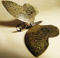 Steampunk Butterfly necklace 2 by Shadows-Ink