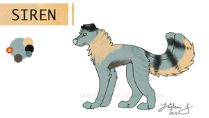 Siren Reference Sheet. :2013: by OneOfTheNight