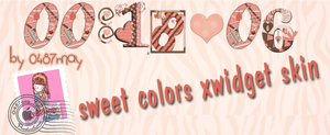 Reloj Pink , Xwidget skin by may0487