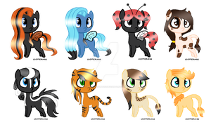 MLP Adoptable Batch - Animals - CLOSED by M00nlightMagic