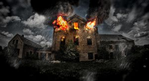 House on fire by BrknRib