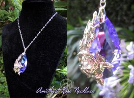 Amethyst Rose Necklace by Lillyxandra
