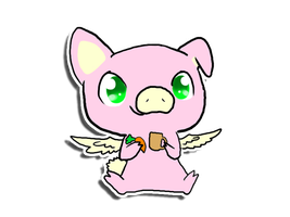 Jaden the flying pig by PorcyPinkPorcupine