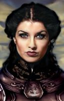 Baldur's Gate Female Portrait by Enkida