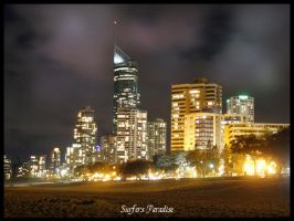 Surfers Paradise By Night by droy333