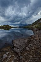 Flueela Pass Lake by Dave-Derbis