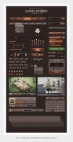 Dark Amber UI a Web User Interface Kit by the-webdesign