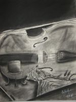Cello on Airhockey Table by CMA3D