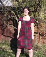 red plaid dress by Morgan-La-Fey