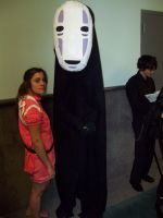 No Face and Chihiro Cosplay by Howlingstar89