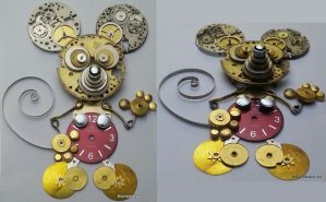 Steampunk Mickey Mouse by randomasusual