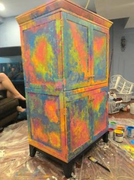 I Painted A Cupboard! by littlemisspanhead