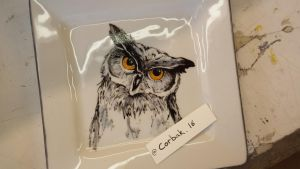 Owl Ceramic by SkryllexArt