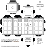 Cubee - 'Colour Your Own' TARDIS by CyberDrone