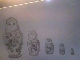 My Russian Dolls by crystalbluedisguise