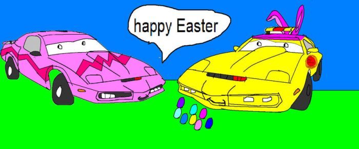 ratchet t and Kitt t. say happy easter by duallygirl178