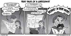 The Horrifying Pain Of A Middle Aged Cartoonist by zombiecarter