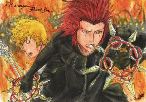 Axel and Roxas by AurelGweillys