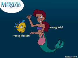 Request - Young Ariel and Flounder's discovery by Csodaaut