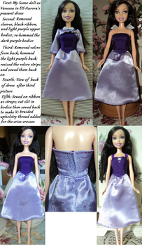 Step-by-step Process of Vanessa's Dress by KoolKatKaitlynAATC
