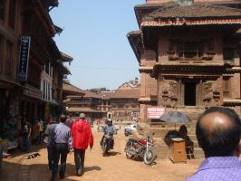 Streets od Bhaktapur 01 by Woolfred