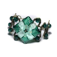 Emerald square Bracelet by CatherinetteRings