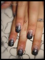 Glitter Rock Nails by Jessi9999