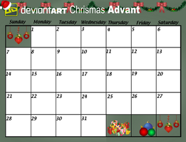 DeviantArt Christmas Advent Calender PNG by Maygirl96