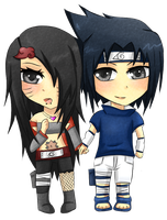 PC - Sasuke x Zuri by Monochromacy