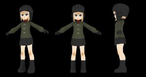 Low Poly Character: Katyusha by kenfan0206