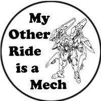 Mech Humor Button by FoxTrotProducts
