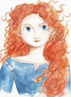 Disney Princess Series - Merida by maybelletea
