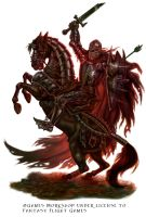 The Black Knight for Talisman The Cataclysm by feliciacano