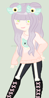 DTA Pastel Goth Girl :CLOSED: by HopeForTheFuture13