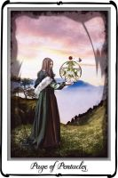 Tarot : Page of Pentacles by azurylipfe