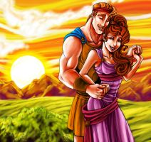 CC: Hercules and Megara by MistyTang
