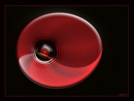 Red Bubble by Brigitte-Fredensborg