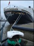 the QE2 tied up by avarenity