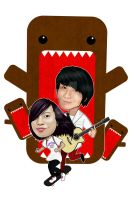 Sungha Jung and Domo by PiccleFiccle