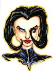 Aeon Flux Bust 6x8 for sale by Anamated