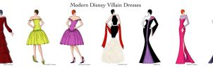 Modern Disney Villain Dresses by Ellevira