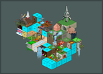 Isometric Grid Collaboration by carbon-12
