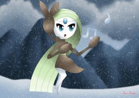 Meloetta - Blizzard Aria by Rose-Beuty