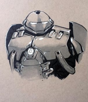 Hulkbuster Sketch by judegallagher28