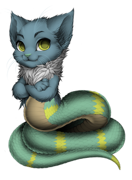 Snakecat by PastelCoulson