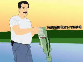 Saddam Goes Fishing by lemontea