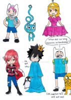 Fairy Tail x Adventure Time crossover by HikumiRin